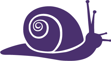 A purple snail icon